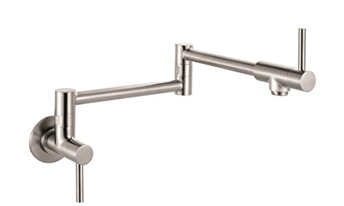 Franke PF3450 Steel Series Two Handle Wall Mounted Pot Filler, Stainless Steel