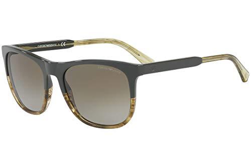 Emporio Armani EA4099 Sunglasses Military Striped Brown w/Brown Gradient Lens 557113 EA ()