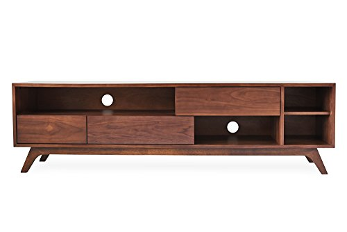 Edloe Finch PIPER Mid-Century Modern TV Stand, Cabinet with Storage, Walnut ()