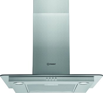 (Indesit IHF64AMX 60cm Flat Glass Chimney Hood Stainless Steel)