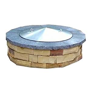 Amazon.com : 42 Diameter Round Stainless Steel Metal Fire Pit Spark Screen Cover Lid Top ...