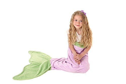 [Mermaid Tail Blanket - Super Soft and Warm Polar Fleece Fabric Blanket by Cuddly Blankets. Perfect for Kids and Teens (Ages 3-12) (Purple and] (Costumes Ideas For 4)