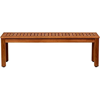 Amazonia Aster Eucalyptus Backless Patio Bench, 53""