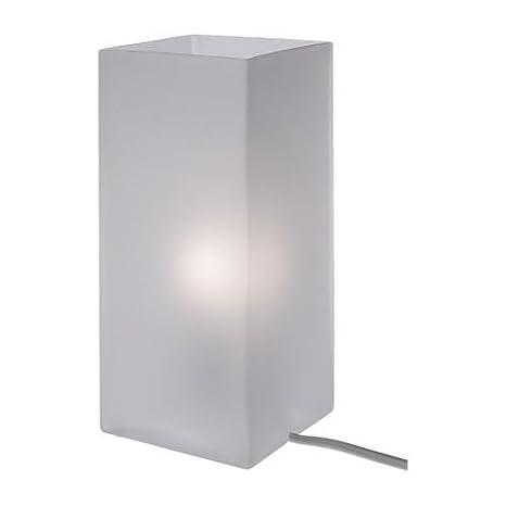 Superior IKEA Grono Lampada Da Tavolo, In Vetro Opalino Bianco