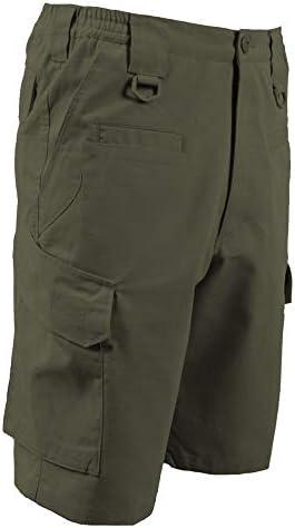 LA Police Gear Womens Operator Pant with 8 Pockets and Elastic Waist Khaki 20 Short