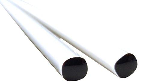 Essstäbchen UNI ROT Bambus lackiert // Spitzen mit Struktur 1 Paar