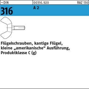 50 Edelstahl V2A Fl/ügelschrauben DIN 316 A2 M5x16