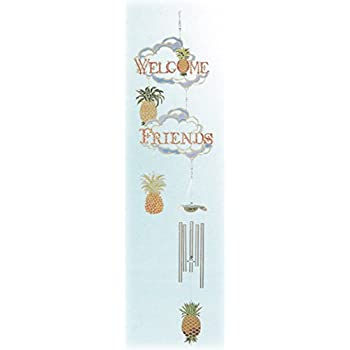 Color Silhouettes Wind Chimes - Pineapples/Welcome Friends