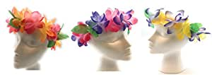 Mahalo Floral Leis Headband 12 PC Set