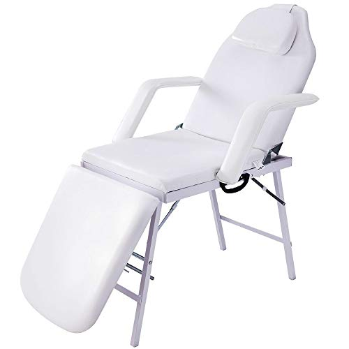 Portable Massage Table Chair with Carrying Case 2 Fold Tattoo Facial Bed SPA Beauty Salon Facial Massage Eyebrow Make-up Waxing Bed Beauty Salon Furniture & eBook by BADA shop