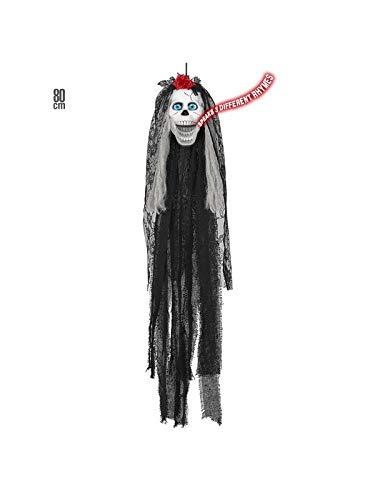 Widmann Srl WDM05822 Cartoon Skull Bride Decorations for Adults, Multicoloured -