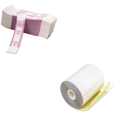 KITPMC07685PMC55032 - Value Kit - Pm Company Paper Rolls (PMC07685) and Pm Company Color-Coded Kraft Currency Straps (PMC55032)