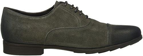 Geox U Besmington B, Zapatos de Cordones Oxford para Hombre Grau (ANTHRACITEC9004)