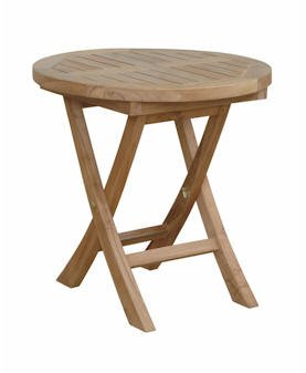 Anderson Teak TB 2020R Montage Round Side Table, 20u0026quot;