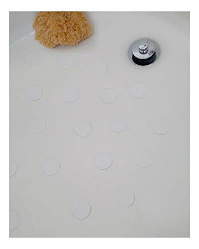 White Bath Tub Anti-Slip Discs - Non Skid Adhesive Shower Stickers Appliques Treads by Unknown