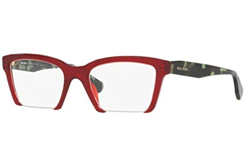 MIU MIU Eyeglasses MU 04NV TKW1O1 Amaranth - Eyewear Prescription Miu Miu