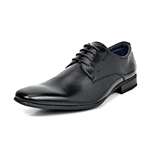 BRUNO MARC NEW YORK Gordon Men's Formal Classy Snipe Toe Lace Up Leather Lining Oxford Dress Shoes
