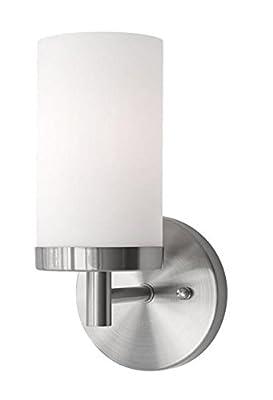 """Radionic Hi Tech K_VA_9108 Yelling 1 Light Brushed Nickel Bath Light, 4.75"""""""