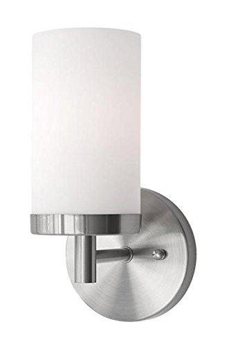 - Radionic Hi Tech K_VA_9108 4.75 Inch Yellin 1 Brushed Nickel Bath Light, 4.75