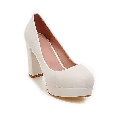 Urethane Shoes White BalaMasa Outdoor Platform Womens Solid Pumps APL10536 CTqI1