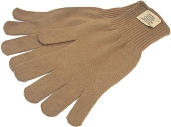 Military Outdoor Clothing Never Issued US G.I. X-Large Brown Acrylic Glove Inserts