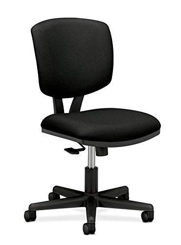 HON H5703.GA10.T Volt Task Chair – Armless Office Chair for Computer Desk, Black Fabric (H5703 )