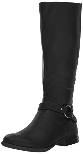 LifeStride Women's X-Felicity Low Heel Tall Shaft Boot Knee High, Black, 11 M US