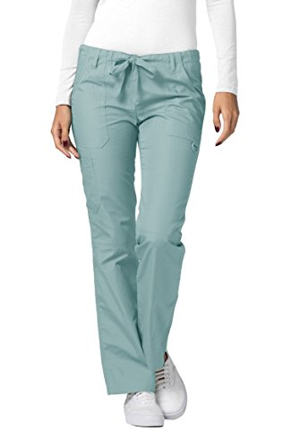 Adar Universal Womens Low-Rise Multipocket Drawstring Straight Leg Scrub Pants - 510 - Submarine - M ()