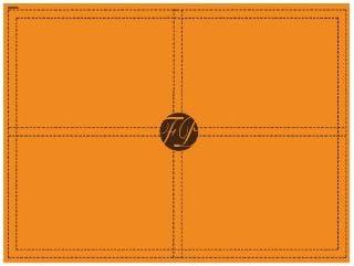 10 sets de table jetables en intiss/é 40x30cm Sellier orange