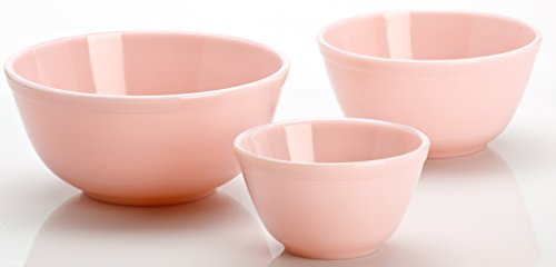 (3 Piece Mixing Bowl Set. Mosser Glass American Made (Crown Tuscan))