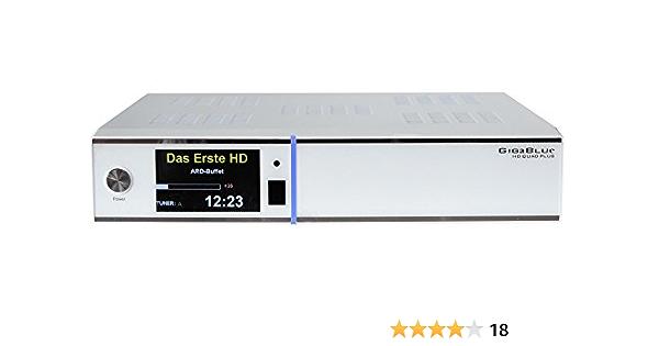 GigaBlue Giga - Receptor de TV por satélite ((PVR Ready, Quad Plus, 2x CI, CR, LCD, IPTV, Full HD, HbbTV, HDTV, Twin Tuner, USB), Blanco