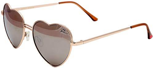Betsey Johnson Women's Heart Shaped Bronze Sunglasses ()