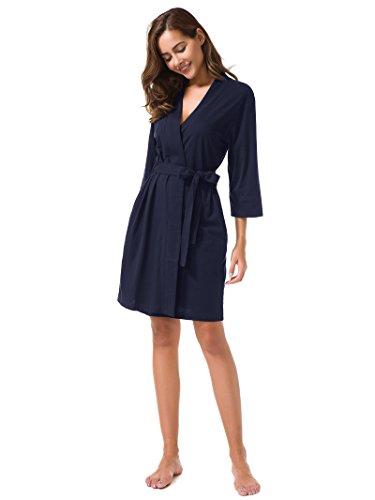 notte Vestaglie notte scollo Kimono Marina V a da SIORO vestaglia Accappatoio Donna camicia Corto qFPZwxt0