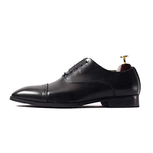 NIUMT Stile Britannico, Fatto A Mano, Vintage, Business, Casual, Moda, Scarpe da Sposa Black