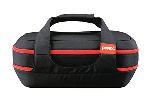 Pyrex 1102267 885459426300 Portables Glass Bakeware and Food Storage Set (Black Carrier, 9-Piece Double Decker, BPA-Free)