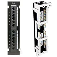 InstallerParts Cat 6 110 Type Patch Panel 12 Port Vertical w/Bracket
