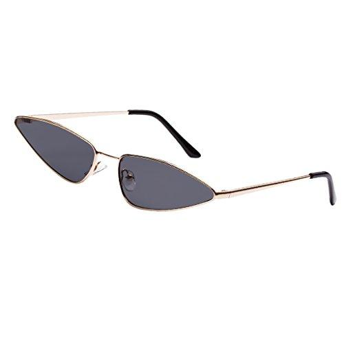 Regalo gris de Gato para Protección Homyl Lente Lente marco Pesca gris Hombre Ojos Unisex de Mujer Conducción Vintaje negro de Gafa Sol dorado marco UV400 con xUxpvY