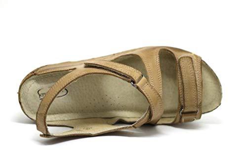 in 405 Sandali estive KS Pelle Scarpe da Donna Beige vYwOWWH7q