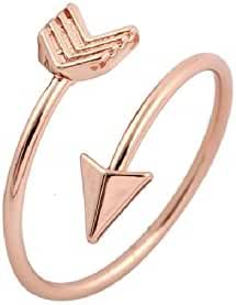 Arrow Ring Graduate Gift, Inspirational Ring, Journey, Travel Ring Toe Ring (Rose Gold)