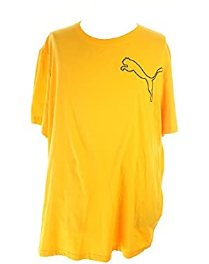 Sport Lifestyle Puma Orange Short-Sleeve Log Outline T-Shirt XXL