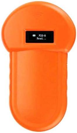 QYLJX RFID 134.2Khz ISO FDX-B Animal Chip Reader, Microchip Pocket Animal Analyzer, Pantalla LCD para la identificación de Animales Gestión de Animales