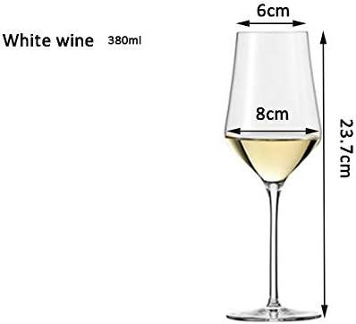 YUN&DSC Borgoña - Burdeos - Champagne Vino Tinto Vasos Vidrio del Vino Blanco Elegante en Caja de Regalo Libre de Plomo-Pack de 2 (Color : Clear, Size : Champagne-260ml)