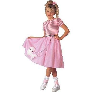 Nifty Fifties Poodle Skirt Costumes (Girl's Nifty Fifties Poodle Skirt Costume, Large(12-14))