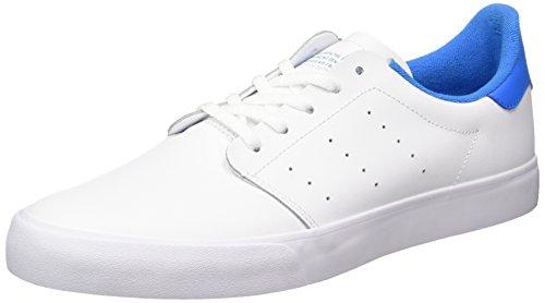 adidas Seeley Court, Scarpe da Ginnastica Uomo, Bianco (Ftwbla/Ftwbla/Azubri), 46 EU