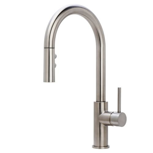 Miseno MK191 Gemma Pull-Down Dual Spray Kitchen Faucet - Includes Deck Plate, Stainless Steel (Miseno Faucet)
