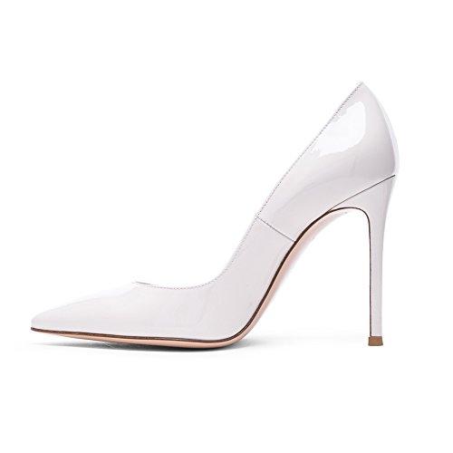 Aiguilles Escarpins Shoe Stiletto Sexy Talons Femme Chaussures Nude Escarpin High EDEFS 10 CM white Heel xXYqPdEw