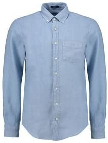GANT Hombre Tiempo Libre Camisa Linen Azul XL: Amazon.es: Ropa y accesorios