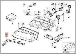 GTV INVESTMENT E46 Cache de phare Cabrio 8384489 63128384489
