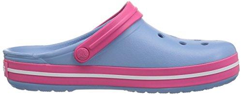 Crocs Crocband, Zoccoli Unisex – Adulto Chambray Blue/ Paradise Pink