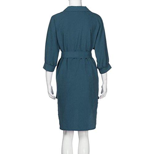 Damen KleiderFrauenReversKleidbeiläufiges AbendParteiKleid ...
